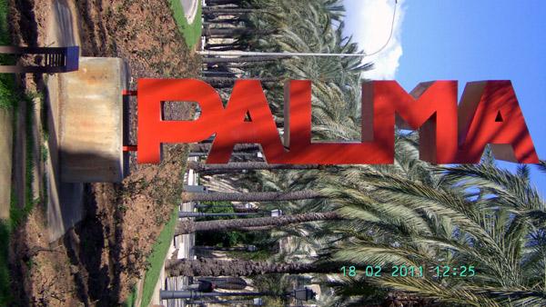 Schild Palma de Mallorca