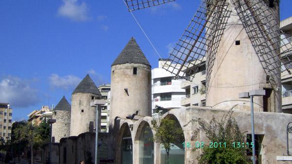 Windmühlen in Palma de Mallorca